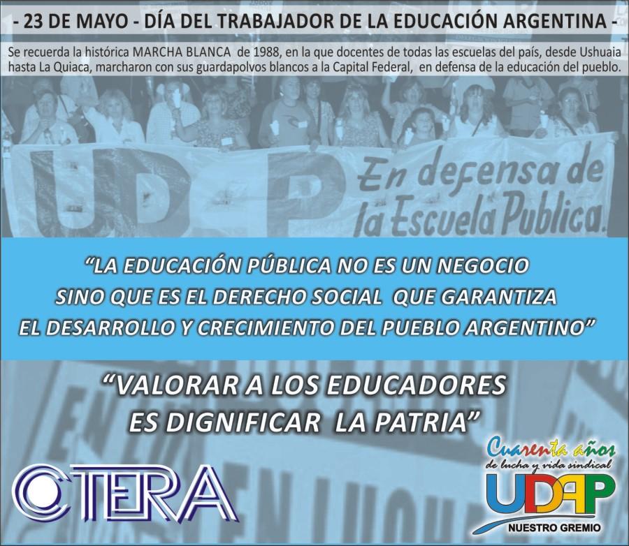 DÍA DEL TRABAJADOR DE LA EDUCACIÓN
